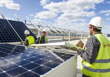 panneaux solaires Total La Mede