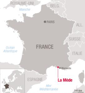 Localisation de Total La Mede sur la carte de France